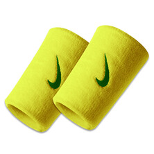 Nike Swoosh Doublewide Wristbands - Electric Yellow