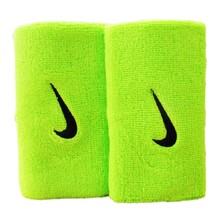 Nike Swoosh Doublewide Wristbands - Atomic Green/Black