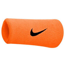 Nike Swoosh Doublewide Wristbands - Vivid Orange Blue