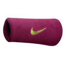 Nike Swoosh Doublewide Wristbands - Fireberry Atomic Green