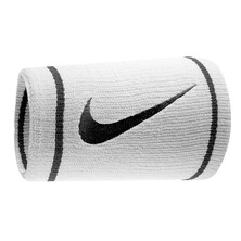 Nike Dri-Fit Doublewide Wristband White/Black