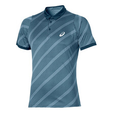 Asics Men's Graphic Polo Shirt - Ink Blue Shadow Net