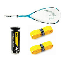 Head Liquid Metal 125, Balls,  Grips - Bundle