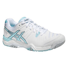Asics Gel Challenger 10 Women's Tennis Shoes - White Crystal Blue