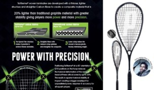 Ramy Ashour's new Prince Warrior squash racket 2016