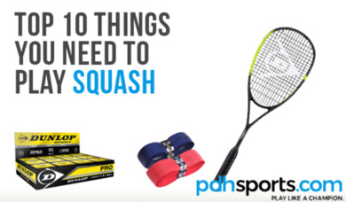 Top ten things you need to play squash