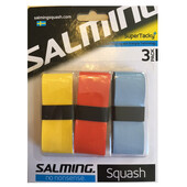 Salming SuperTacky Squash OverGrip 3 Pack Royal/Yellow/Red