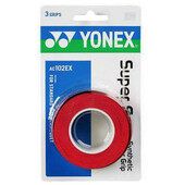 Yonex AC102EX Super Grap Overgrips Pack Of 3 Wine Red