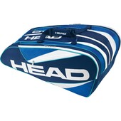 Head Elite Monstercombi 12 Racket Bag Blue Blue