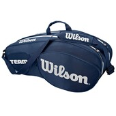 Wilson Team III 6 Pack Racket Bag Blue White