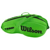Wilson Team III 3 Pack Racket Bag Black Green