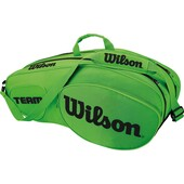 Wilson Team III 6 Pack Racket Bag Black Green