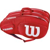 Wilson Team III 12 Pack Racket Bag Red White