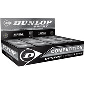Dunlop Competition Squash Ball - 1 Dozen. Single Yellow Dot