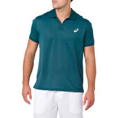 Asics Men's Classic Polo Shirt - Blue Steel