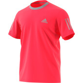 Adidas Men's Club 3 Stripe Tee Shock Red