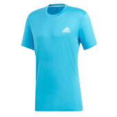 Adidas Escouade Men's T-Shirt - Cyan White