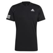 Adidas Mens 3 Stripes Club Tee 2021 Black