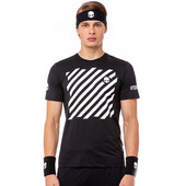 Hydrogen Men's Tech Optical Tee Black White