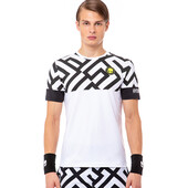 Hydrogen Men's Tech Labyrinth Tee White Black