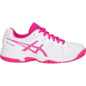 Asics Kids GEL-Game 5 GS Tennis Shoes - White Pink Glow