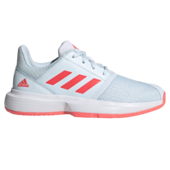 Adidas CourtJam XJ Junior Tennis Shoes Sky Tint Signal Pink