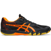 Asics Gel Blade 7 Men's Shoes Black Shocking Orange