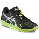 Asics Gel Fireblast 2 Indoor Men's Shoes - Black/White/Safety Yellow