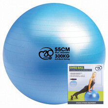 Fitness Mad Swiss Ball Pump & DVD Blue 55cm