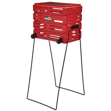 Tourna Deluxe Ball Basket Red