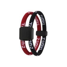 Trionz Dual Loop Bracelet - Red, Black
