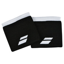 Babolat Logo Wristband 2 Pack Black White