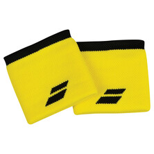 Babolat Logo Wristband 2 Pack Blazing Yellow Black