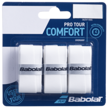 Babolat Pro Tour Comfort Overgrips 3 Pack - White