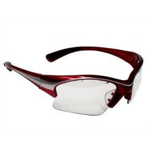 Black Knight Stiletto Eye Guard - Red , Silver