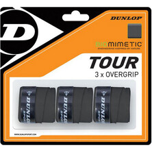 Dunlop Biomimetic Tour Overgrip Black Pack Of 3