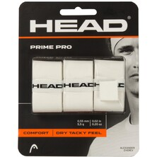 Head Prime Pro Overgrips Pack Of 3 - White