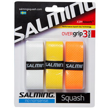 Salming X3M Absorb Performance Squash OverGrip 3 Pack Wh/Yel/Ora