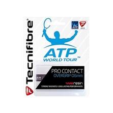 Tecnifibre Pro Contact Overgrip White - Pack of 3