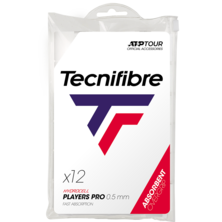 Tecnifibre Pro Players Overgrip White - Pack Of 12