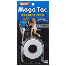 Tourna Mega Tac Grip XL White  - 3 Grips