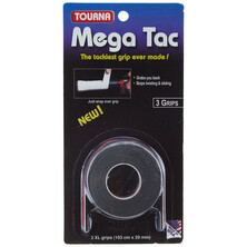 Tourna Mega Tac Grip XL Black  - 3 Grips