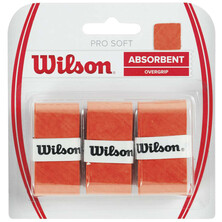 Wilson Pro Soft Over Grip 3 Pack Orange
