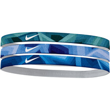 Nike Printed Headbands Assorted 3 Pack Purple Blue Grey
