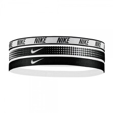 Nike Printed Headbands Assorted 3 Pack White Black White