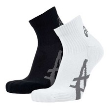 Asics Pulse Running Socks 2 Pack White Black