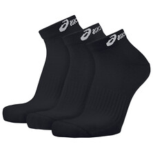 Asics 3 Pack Ped Socks - Black