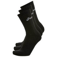 Asics 3 Pack Crew Sock Black