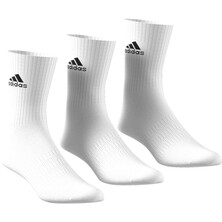 Adidas Cushion Crew Sock 3 Pack White