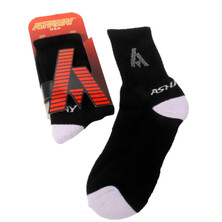 Ashaway Performance Court Sock Black White